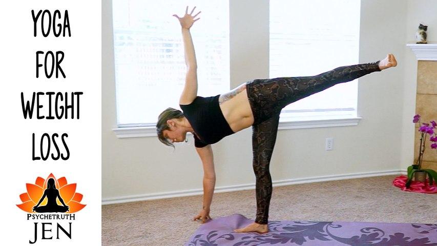 YOGA  Weight Loss Challenge Workout #4 - 20 Minute Fat Burning Yoga Meltdown Beginner & Intermediate