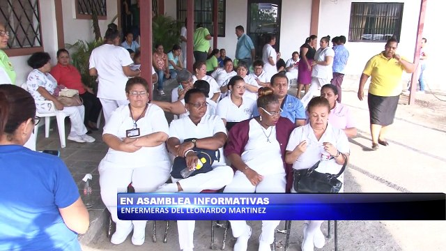 En asamblea informativa enfermeras del Leonardo Martinez