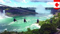 Niagara Falls zipline on Canadian side is latest adrenaline-pumping attraction - TomoNews