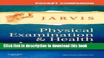 New Book Pocket Companion for Physical Examination and Health Assessment (Jarvis, Pocket Companion
