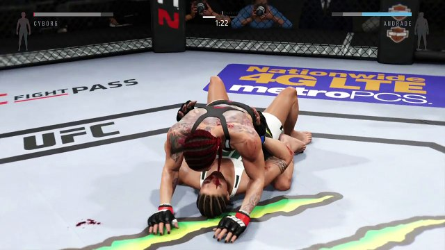 UFC 2 2016 GAME BANTAMWEIGHT UFC BOXING MMA CHAMPION FIGHT GIRLS HIGHLIGHTS ● CRIS CYBORG VS JESSICA ANDRADE