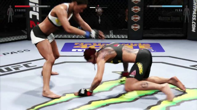 UFC 2 2016 GAME BANTAMWEIGHT UFC BOXING MMA CHAMPION FIGHT HIGHLIGHTS ● CRIS CYBORG VS JULIANNA PENA