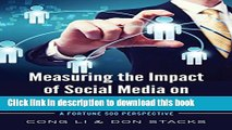 [New] EBook Measuring the Impact of Social Media on Business Profit   Success: A Fortune 500