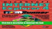 [New] PDF Microsoft Internet Explorer 4 FrontRunner: Master Microsoft s New Web Browser and