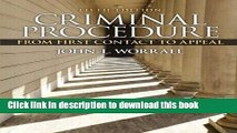 [PDF] Criminal Procedure: From First Contact to Appeal (5th Edition) Popular Colection