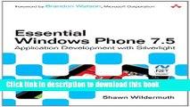[New] EBook Essential Windows Phone 7.5: Application Development with Silverlight (Microsoft