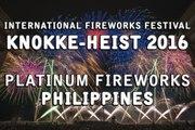 Int. Vuurwerkfestival Knokke-heist 2016: Platinum Fireworks - Philippines - feu d'artifice