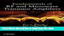 PDF [DOWNLOAD] High Efficiency RF and Microwave Solid State Power