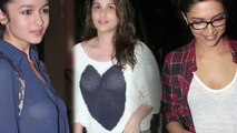 Bollywood Actress In Transparent Dress  Sunny Leone  Deepika Padukone  Bipasha Basu  2016