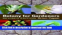 [PDF] Botany for Gardeners [BOTANY FOR GARDENERS REV/E] Full Online