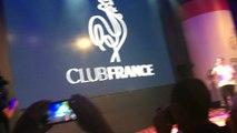 Arrivée des joueuses de l'équipe de France de Handball au club France avec la médaille d'argent