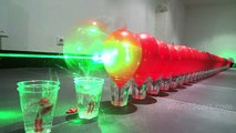 World Record Submission - 100 Laser Balloon Popping Dominoes - Wicked Lasers S3 Krypton 750mW+ IMG - - YouTube