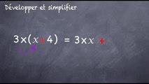 3ème Calcul littéral Développer et simplifier une expression littérale