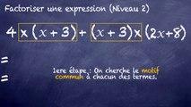 3ème Calcul littéral Factoriser une expression littérale dur