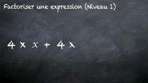 3ème Calcul littéral Factoriser une expression littérale facile