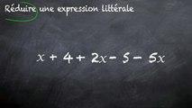 3ème Calcul littéral Réduire une expression littérale