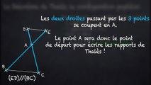 3ème Théorème de Thalès Configuration papillon
