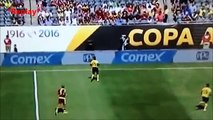Cameraman Gets Hit by the Ball - Jamaica vs Venezuela Copa America Centenario 2016