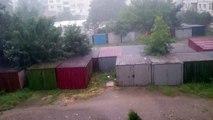 Heavy thunderstorm in Sliven Bulgaria
