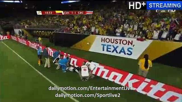 Frank Fabra Horror INJURED IN MATCH - Colombia 1-1 Costa Rica