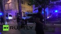 Violentes bagarres entre supporters Anglais Russes et l'OM à Marseille - Angleterre Russie Euro