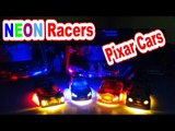 Pixar Cars with Neon Lightning McQueen Max Schnell Raoul Caroule SHu Todoroki and more in Real Races