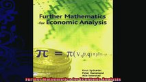 Download Further Mathematics for Economic Analysis (2nd