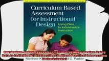 best book  CurriculumBased Assessment for Instructional Design Using Data to Individualize