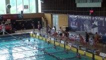 Rébecca Gensane remporte 3 titres de championne du Rhône (400 NL, 100 D, 200 4N. Ici le 200 4N (2 37 13)