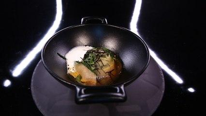 Foie gras de canard poché au bouillon d'algues, par Jean-François rouquette (#DPDC)