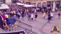 Des hooligans Allemands dévastent le centre de Lille - Allemagne Ukraine - Euro 2016
