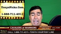 Golden St Warriors vs. Cleveland Cavaliers Free Pick Prediction Game 5 NBA Pro Basketball Finals Odds Preview