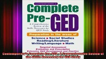 READ book  Contemporarys Complete PreGED  A Comprehensive Review of the Skills Necessary for GED Full EBook