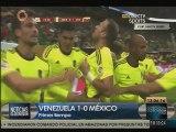 Venezuela derrota a México en primer tiempo