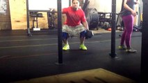 Box Squats 31x1 #275x2; Suitcase Squats #70x8; Paralette Extensions: Feet on Ground Muscle Up Trans