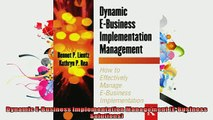 FREE PDF  Dynamic EBusiness Implementation Management EBusiness Solutions  DOWNLOAD ONLINE