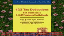 READ book  422 Tax Deductions for Businesses  Self Employed Individuals 475 Tax Deductions for  FREE BOOOK ONLINE
