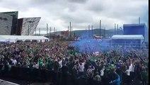 Les supporters nord-irlandais sont exceptionnels, quelle ambiance !