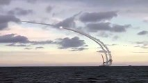 Russian Navy Launching Cruise Missiles from Caspian Sea into Syria