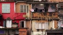 RIO DE JANEIRO, BRAZIL - JUNE 23: Slow-mo of woman doing laundry in a favela Rio de Janeiro, 2013