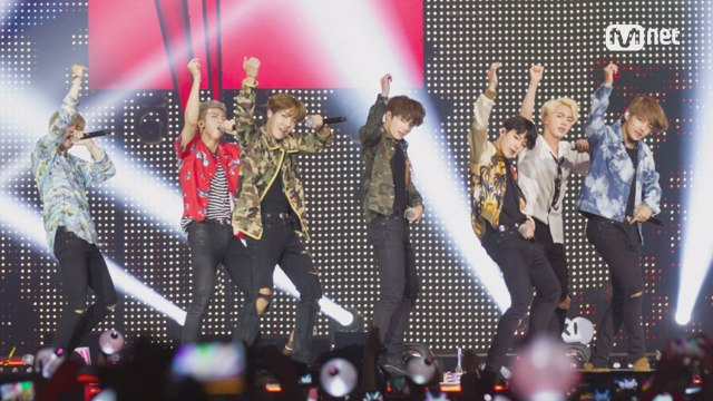 [KCON 2016 France×M COUNTDOWN] 방탄소년단 (BTS) _ What am I to you (INTRO) + 쩔어 (DOPE)