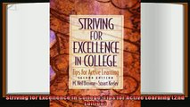 read now  Striving for Excellence in College Tips for Active Learning 2nd Edition