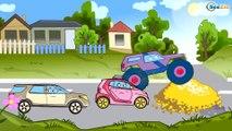✔ Monster Truck maceraları çocuklar için / Arabalar hakkında çizgi filmlerinin koleksyonu / Bölüm 5