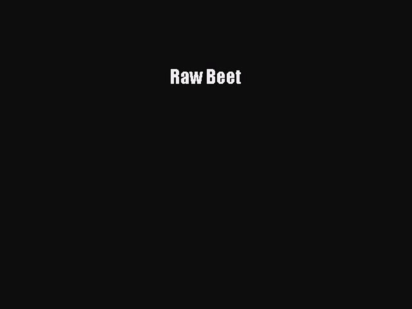 [PDF] Raw Beet Read Full Ebook
