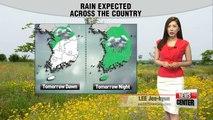 Nationwide rain from tomorrow dawn to Thursday