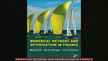 Pdf online  Numerical Methods and Optimization in Finance