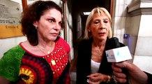 Valérie Lance, avec son avocate Me Pierrette Mazza, au soir du sixième jour du procés