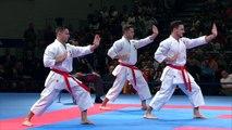 Final Male Team Kata SPAIN. 2014 World Karate Championships