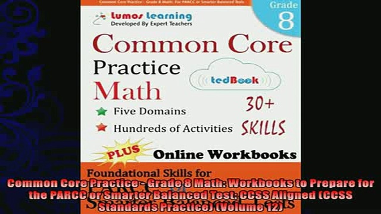 best book Common Core Practice Grade 8 Math Workbooks to Prepare for the  PARCC or Smarter