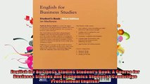 EBOOK ONLINE  English for Business Studies Students Book A Course for Business Studies and Economics  BOOK ONLINE